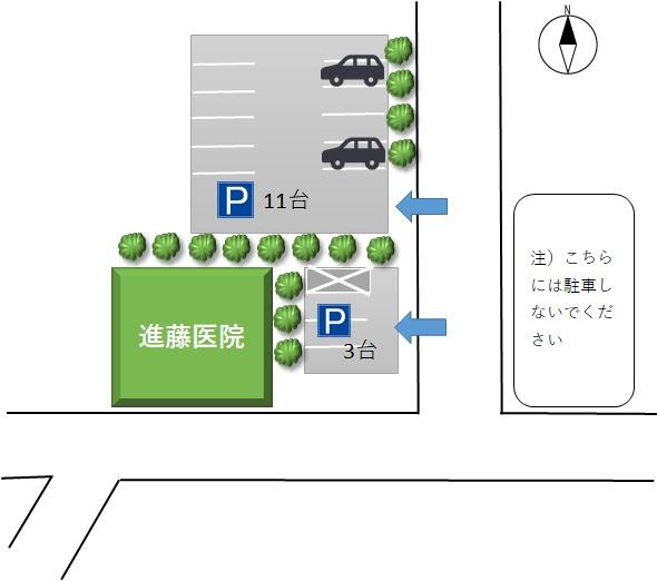 進藤医院 駐車場